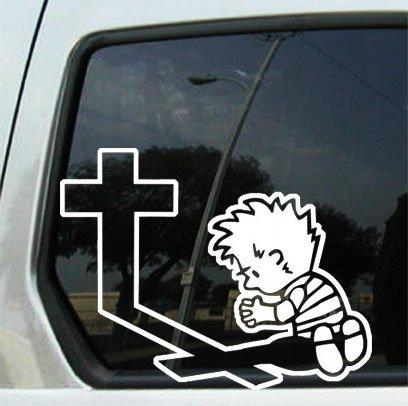 Hell Lord Costume (CCI - Boy Praying - Die Cut Vinyl Window Decal/sticker for Car , Truck, Laptop | 5 X 7)