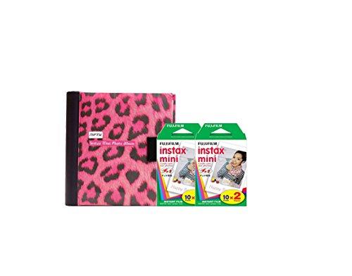 Fujifilm Instax Mini Camera Essentials Kit: Pink Photo Album and Film (40 images) by MPC