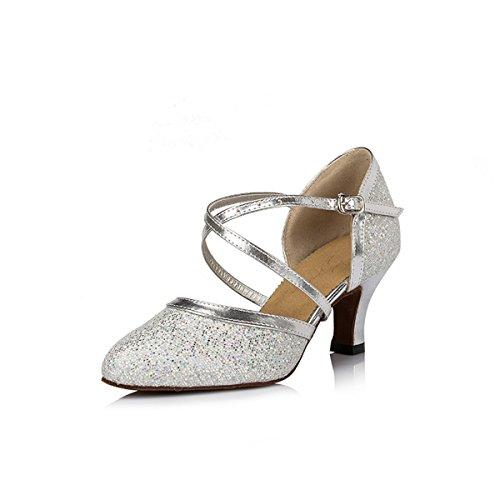 Heel Miyoopark Damen Tanzschuhe 6cm Silver nS8vSP
