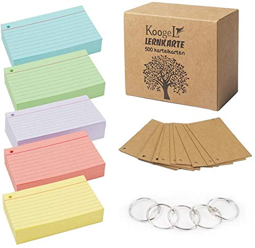 Koogel ruled index cards