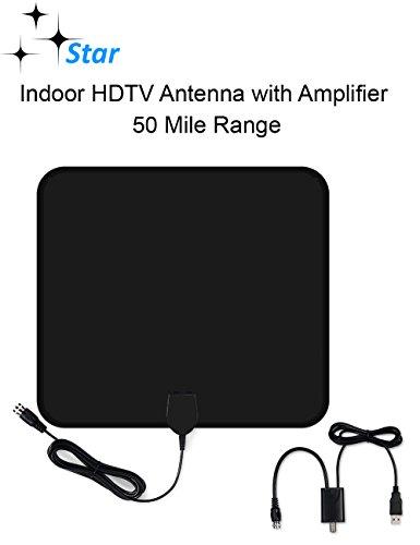 Star Amplified Indoor HDTV Amplified Antenna - 50 Mile Range