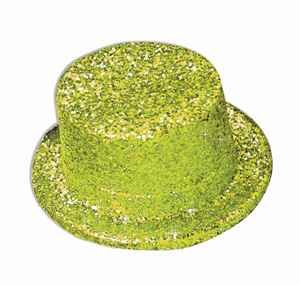 (Forum Novelties Unisex Adult's Glitter Top Hat Gold, Multi, One Size )