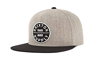 Brixton Men's Oath III Medium Profile Adjustable Snapback Hat from Brixton Young Men's
