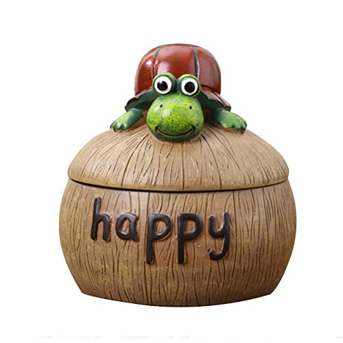 (VORCOOL Cute Ashtray Creative Frog Ashtray Resin Desktop Ashtray with Lid for Home Decoration)
