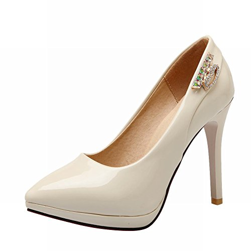 Latasa Womens Fashion Pointed-toe High Heel Pumps Beige yQwGNly1hH