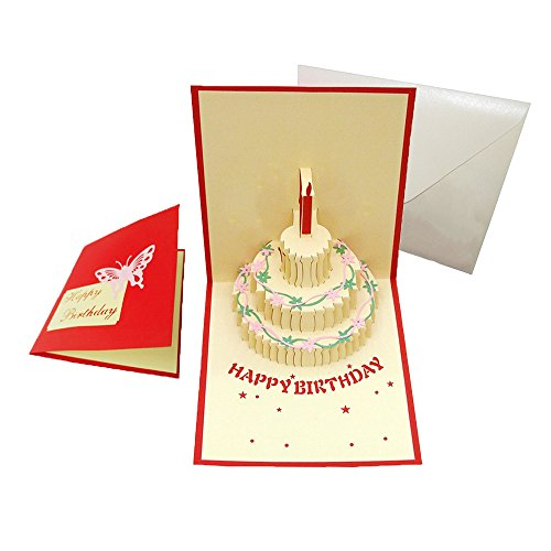 Happy Birthday Cake Pop Up Greeting Cards