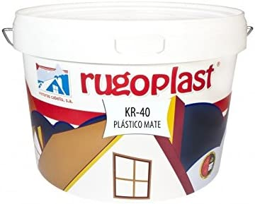 Pintura plástica blanca mate lavable de alta calidad interior/exterior ideal para decorar tu casa (salón, cocina, baño, dormitorios.) KR-40 (10 Kg) Envío GRATIS 24 h.