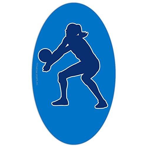 ChalkTalkSPORTS Voleyball Car Magnet | Volleyball Player Bump Silhouette | -