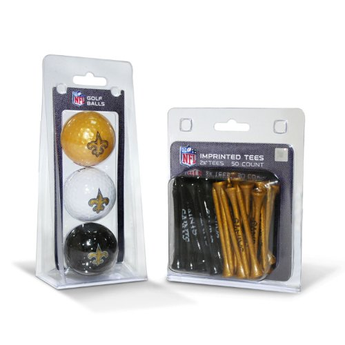 - NFL New Orleans Saints 3 Golf Balls And 50 Golf Tees