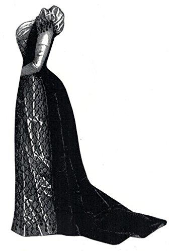 1891 Green Velvet & Satin Evening Dress Pattern ()