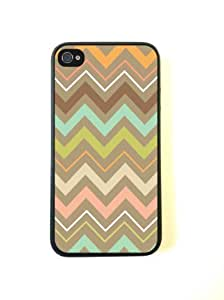 iPhone 4 Case - Silicone Case Protective iPhone 4/4s Case-Tribal Chevron
