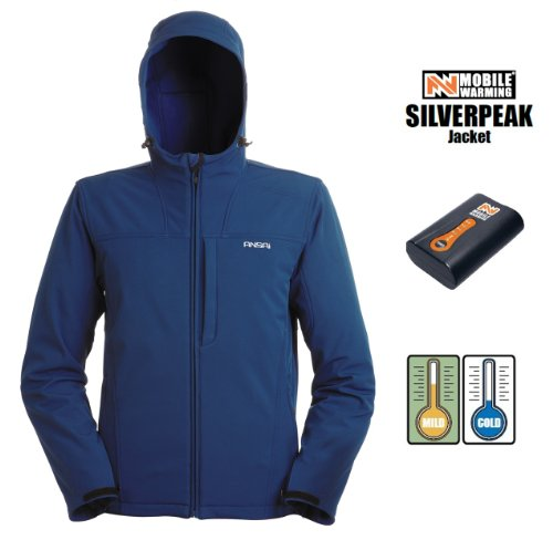 Mobile Warming Mens Silverpeak Jacket, Navy, X-Large