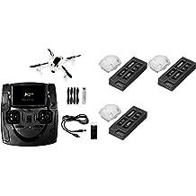 Hubsan X4 H107D+ Plus [QTY: 1] Hubsan X4 H107D+ Plus FPV Quadcopter Drone RTF w/ 720P HD Camera 6-Axis Gyro 4-ch 2.4Ghz & 5.8ghz [QTY: 3] H107D+-04 Battery Pack 3.7v 520mAh LiPo Power
