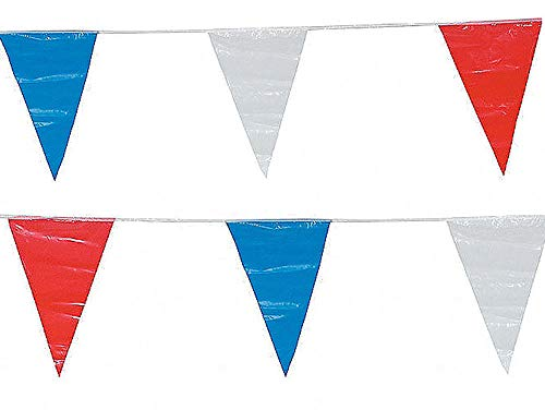 200' Pennant Flag Banners Red White Blue Patriotic Float Decor Supplies 2-100 ()
