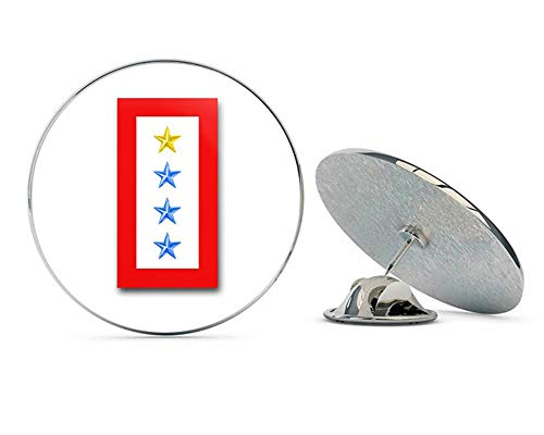Pin Gold Hat Military (Veteran Pins US Army ONE Gold and Three Blue Star' Service Flag Metal 0.75