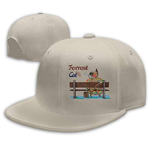 - Unisex Fashion Running Gump Cross Country Man Film 1976 Baseball Caps Buckle Design Adjustable Trucker Hat Natural