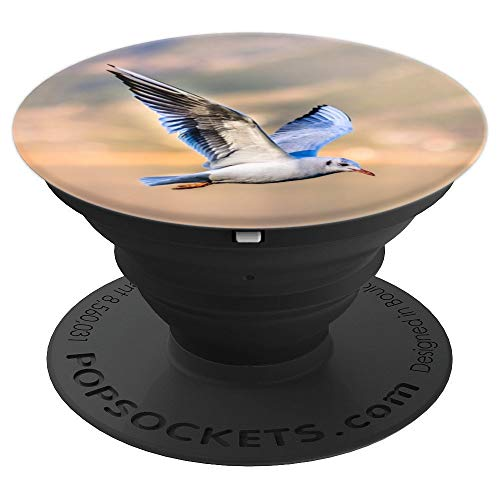 Gulls Animals (Bird Seagull Flying Wings Gull Animal - PopSockets Grip and Stand for Phones and Tablets)