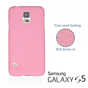 OnlineBestDigital - Frosted Surface Hard Back Plastic Case for Samsung Galaxy S5 - Pink with 3 Screen Protectors and Stylus
