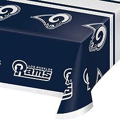 Los Angeles Rams Plastic Tablecloths, 3 ...