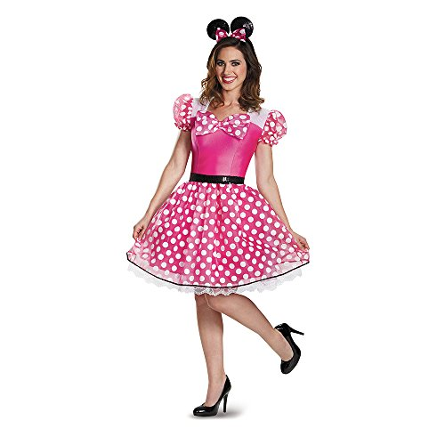 Disguise Women's Glam Minnie Costume, Pink, -