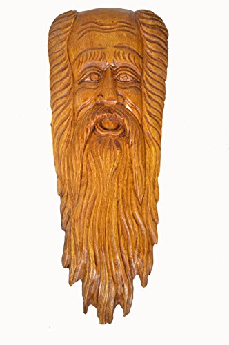 28 H One of a Kind Fantasy Knot Tree Spirit Wood Carving Log Mystical Gnome Face Hand Carved