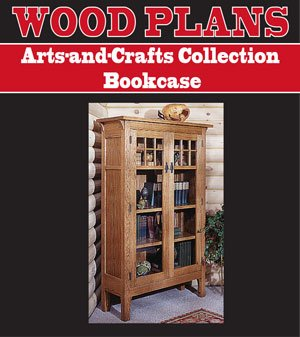 - ARTS & CRAFTS COLLECTION BOOKCASE WOODWORKING PAPER PLAN PW10033