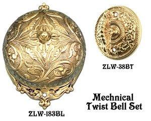 Recreated Interior Bell For Victorian Rococo Twist Doorbell SET (Z183S2-PB)