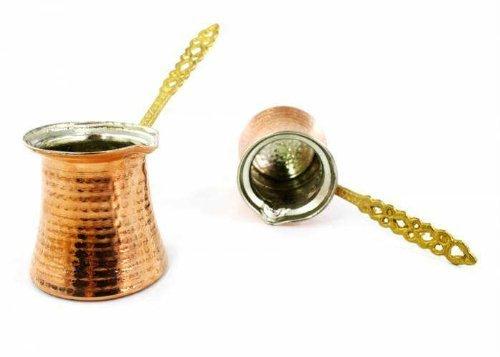At one's fingertips Hammered Copper Turkish Greek Arabic Coffee Pot Ibrik Kettle Jazzva Cezve Briki (XL - 340cc - 11.5 oz - 5 demitasse cups) by TurkishCopper