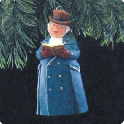 Caroler Bell Ornament - Hallmark Keepsake Ornament 1991 Dickens Caroler Bell Mrs. Beaumont