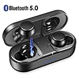 Wireless Earbuds, Bluetooth 5.0 True Wireless Earbuds Upgraded Noise Cancelling Bluetooth Earbuds with Stereo Hi-Fi Sound Wireless Headphones with Deep Bass for Running Sport Earbud