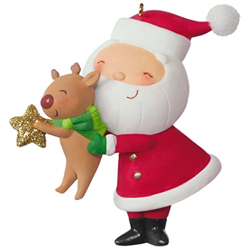 Kris Kringle Christmas - Kringle and Kris Decorating the Tree Ornament Santa Claus