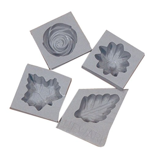 Flower/Leaf Rubber Molds, 4/pk