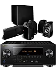 Pioneer Elite VSX-LX503 9.2 Channel 4k UltraHD Network Audio & Video Receiver Home Theater Bundle with Polk Audio TL1600 5.1 Speaker System with Powered Subwoofer - Black