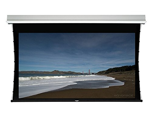 Monoprice Ceiling Recessed Tab-Tensioned Motorized Projection Screen (Somfy Motor) w/ IR Remote - HD White Fabric (150 inch, 16:9) by Monoprice