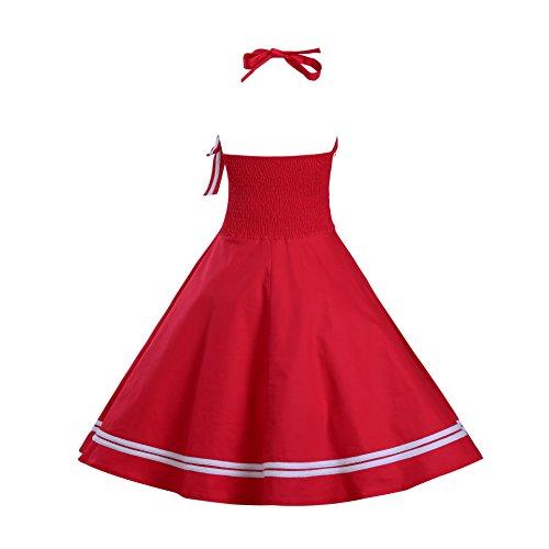 Vestito Delle Pinup Dall'oscillazione Doris Marinaio Halter Rosso Epoca Donne 5wxqPx7