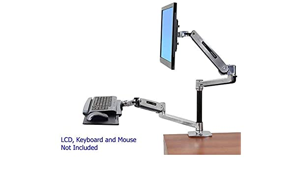 Amazon.com : Ergotron WorkFit-LX Desk Mount for Flat Panel ...