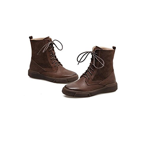 43 43 Passeggio Piatto Invernali 44 44 Brown CHENGREN Scrub da Termici Scarpe Tonda Donna a Scarpe per Stivali Casual Testa da p7qwYqUE
