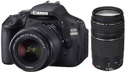 Canon EOS 600D - Cámara réflex Digital de 18 MP (Pantalla de 3 ...