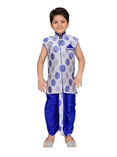 Kurta Dhoti (AJ Dezines Kids Indian Wear Bollywood Style Kurta Dhoti Set for Boys (7002-ROYAL-GREY-3))