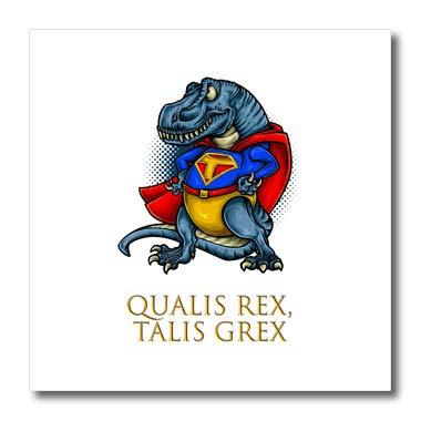 3dRose Alexis Design - Funny - Funny T rex. A Text Qualis Re