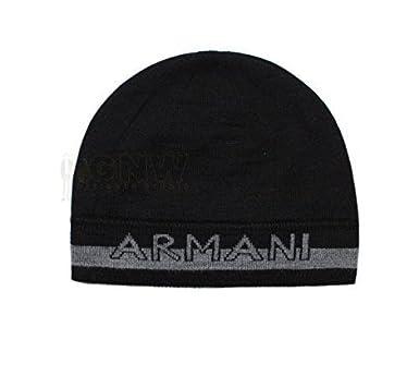 aa7080398 ARMANI EXCHANGE REVERSIBLE BEANIE HAT/ SKULL CAP BLACK, GREY ONE SIZE
