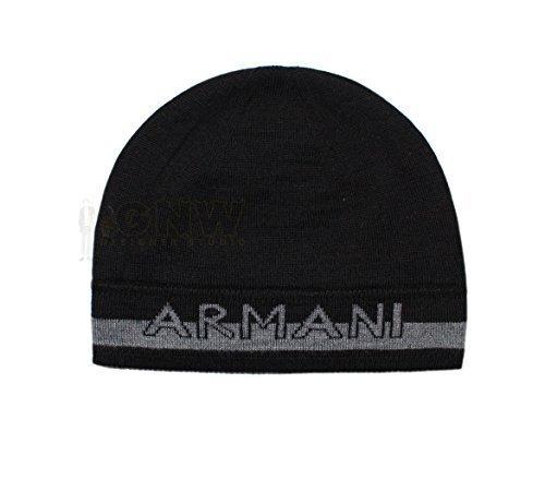Armani Exchange Gorro Reversible Gorro Negro ee90c679b04