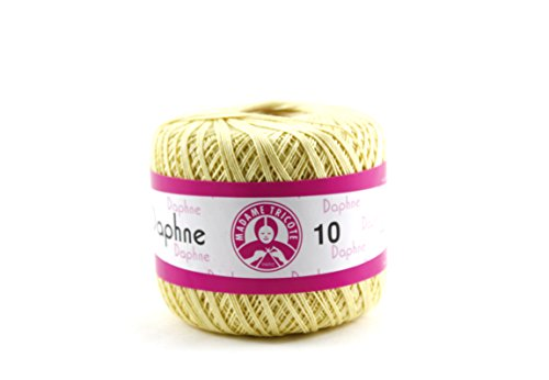 Avanti Daphne Knitting Thread 100% Cotton, 50 grams, 308 yards, 10/3 of thickness Needles use 1.25-1.50 (Light Yellow)