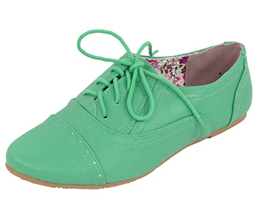 Nature Breeze Dames Cambridge-03 Flats-schoenen Groen