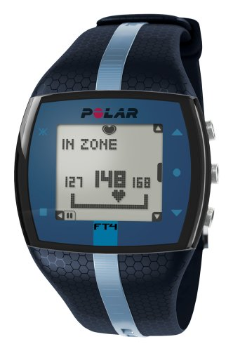 Mountain Heart Rate Monitor - Polar FT4 Heart Rate Monitor, Unisex (Blue/Blue)