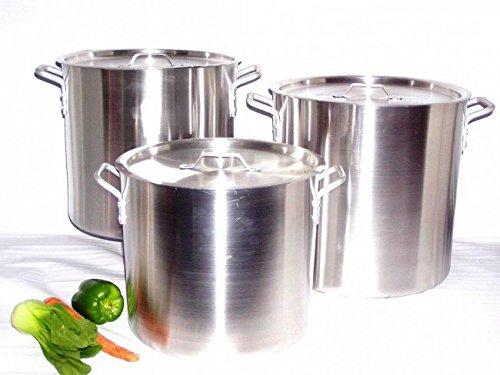 - Uniware Heavy Gauge Aluminum Sauce Pot Set (6 Pcs Set(24 32 40 Qt))