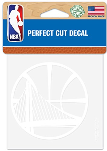 WinCraft NBA Golden State Warriors 4x4 Perfect Cut White Decal, One Size, Team Color