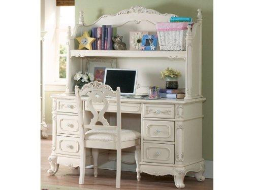Cinderella Writing Desk with Hutch by Home Elegance in - Cream Hutch