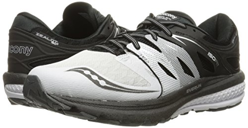 Saucony–ZEALOT ISO 2Reflex Mens (12USA 46,5eUR) (White/Black/Silver)