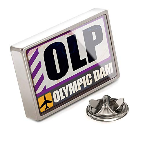 (NEONBLOND Lapel Pin Airportcode OLP Olympic Dam)